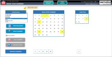 Lottery Simulator-Excel-Template-Someka-SS2