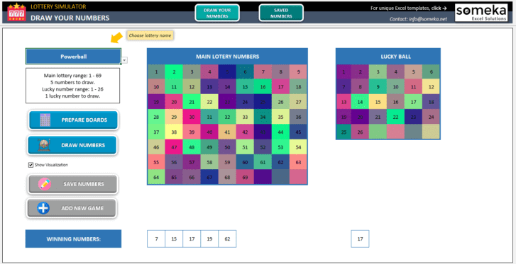 Lottery Simulator-Excel-Template-Someka-SS4