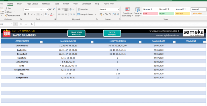 Lottery Simulator-Excel-Template-Someka-SS5