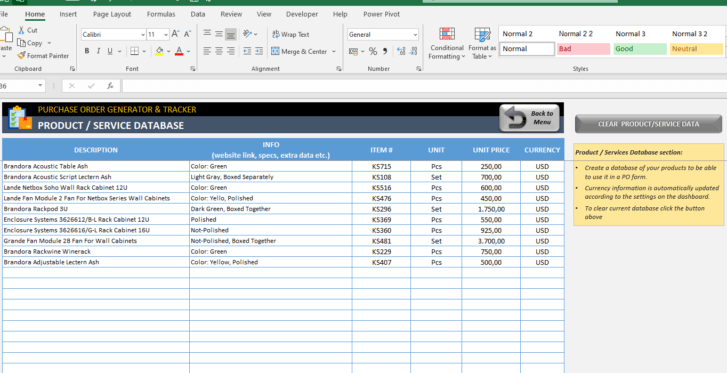 Purchase-Order-Tool-Excel-Template-Someka-SS9