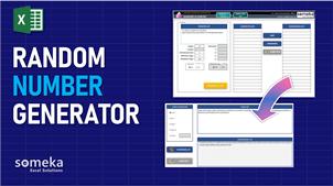 Random Number Generator - Someka Excel Template Video