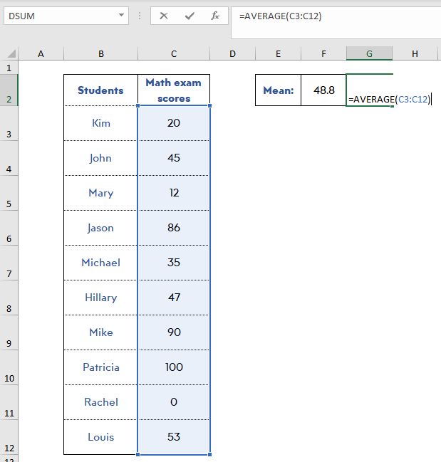 find-mean-excel-normalize-data