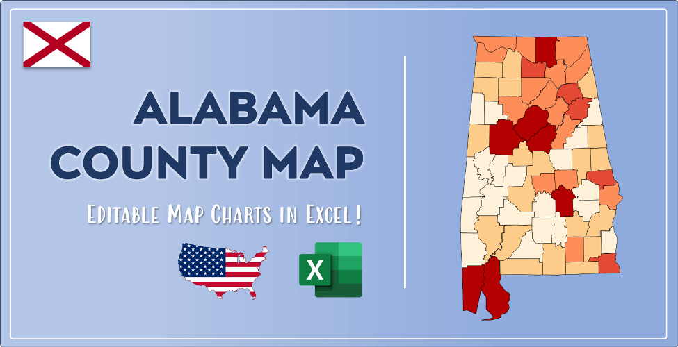 Alabama County Map Post Cover