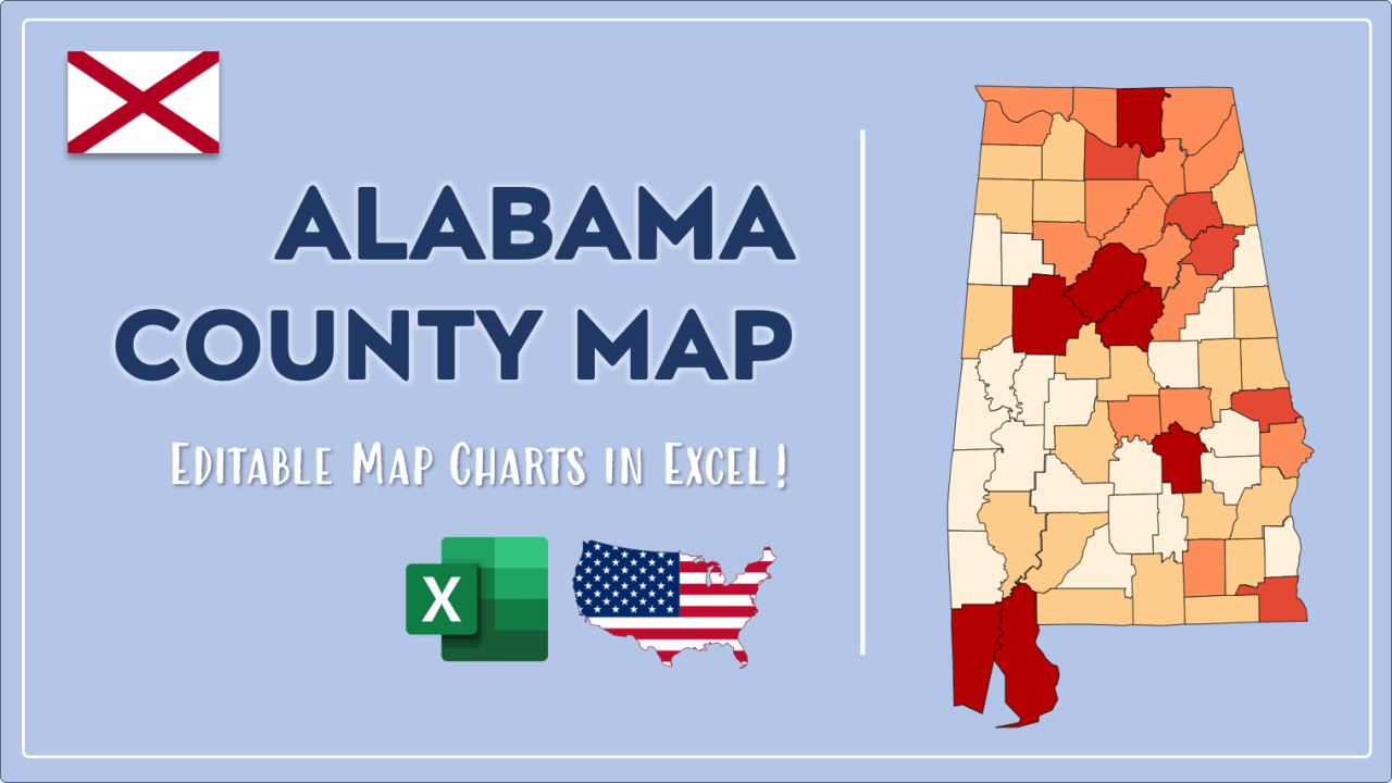 How to Paint Alabama Counties Map Video Cover Image