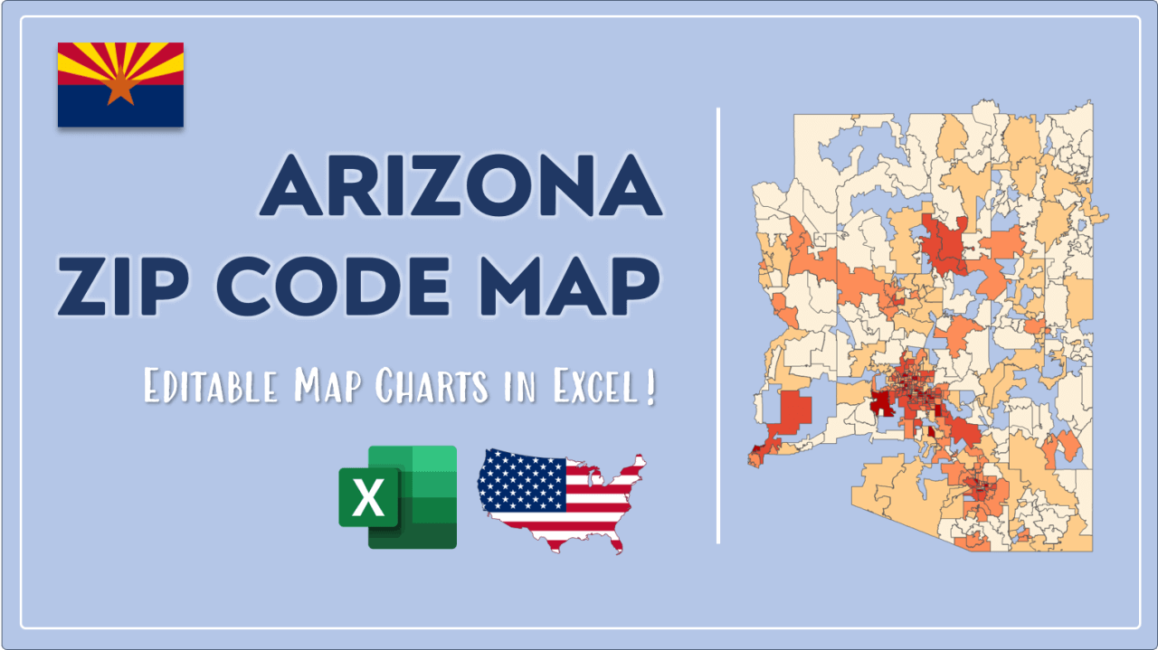 How to Paint Arizona Zip Codes Map Video Cover Image