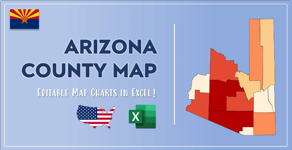 Arizona County Map Post Cover