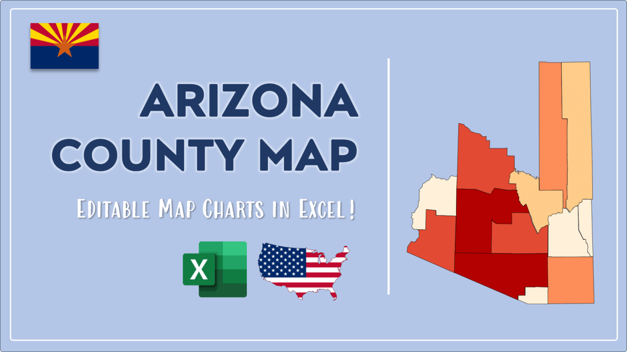How to Paint Arizona Counties Map Video Cover Image