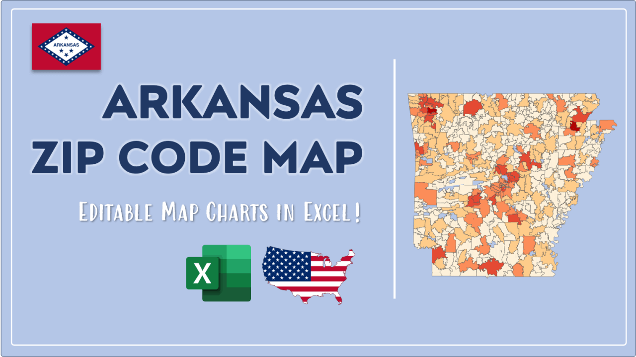 How to Paint Arkansas Zip Codes Map Video Cover Image