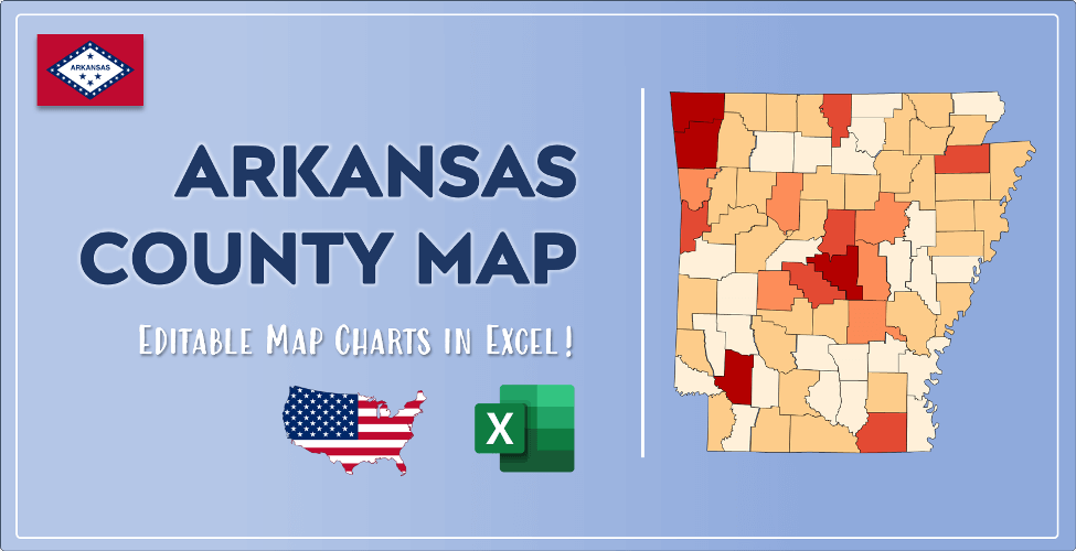 Arkansas County Map Post Cover