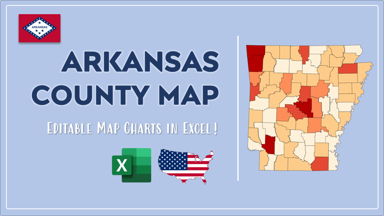 How to Paint Arkansas Counties Map Video Cover Image