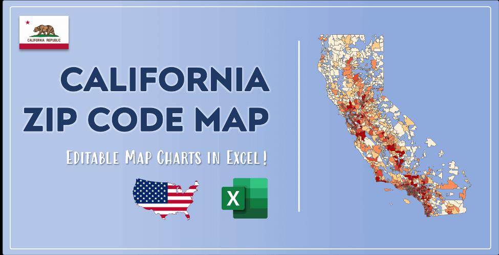 California Zip Code Map Post Cover