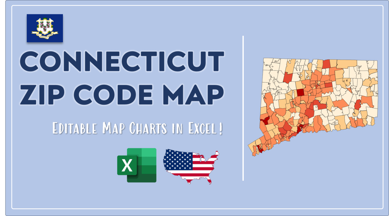 How to Paint Connecticut Zip Codes Map Video Cover Image