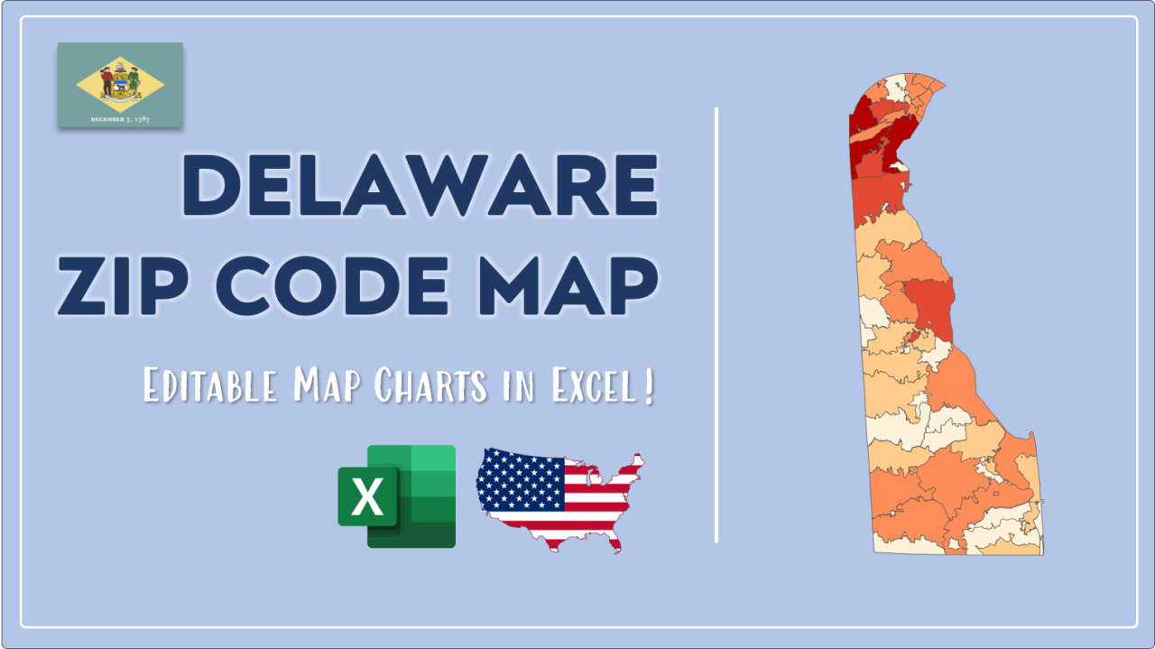 How to Paint Delaware Zip Codes Map Video Cover Image