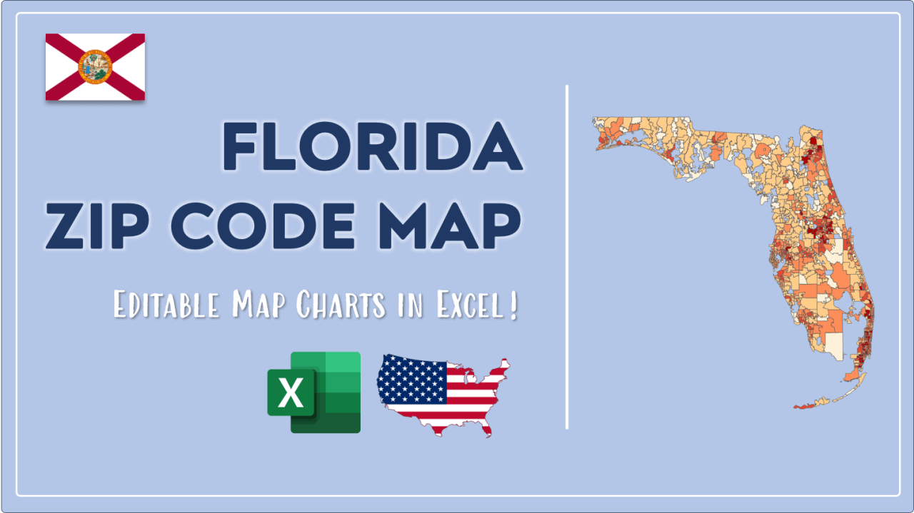 How to Paint Florida Zip Codes Map Video Cover Image