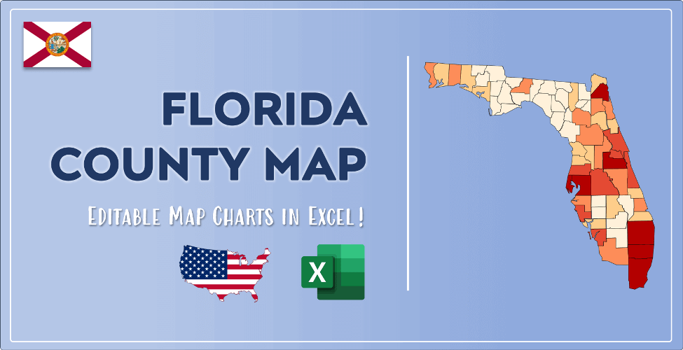 Florida County Map Post Cover