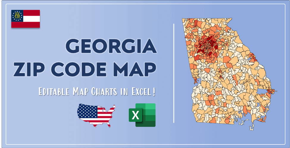 Georgia Zip Code Map Post Cover