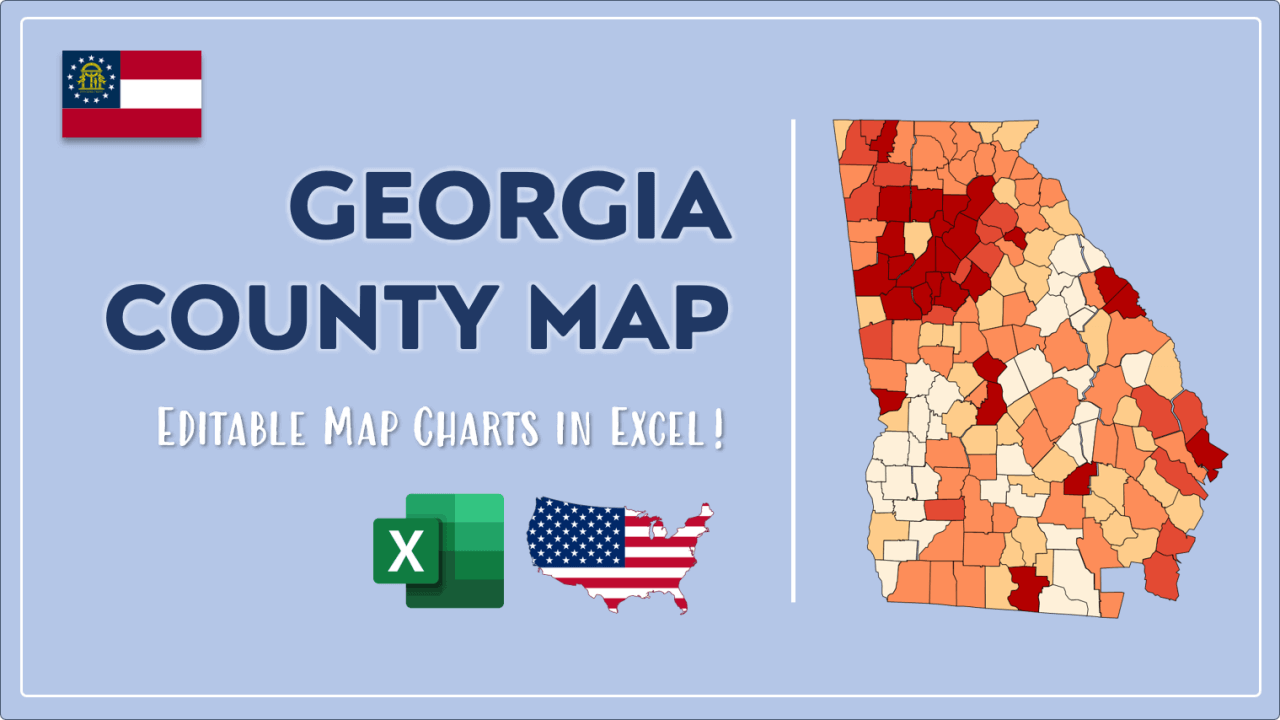 How to Paint Georgia Counties Map Video Cover Image