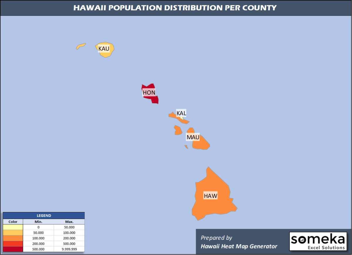 Hawaii County Population Density Map