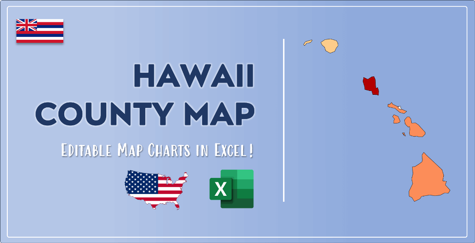 Hawaii County Map Post Cover