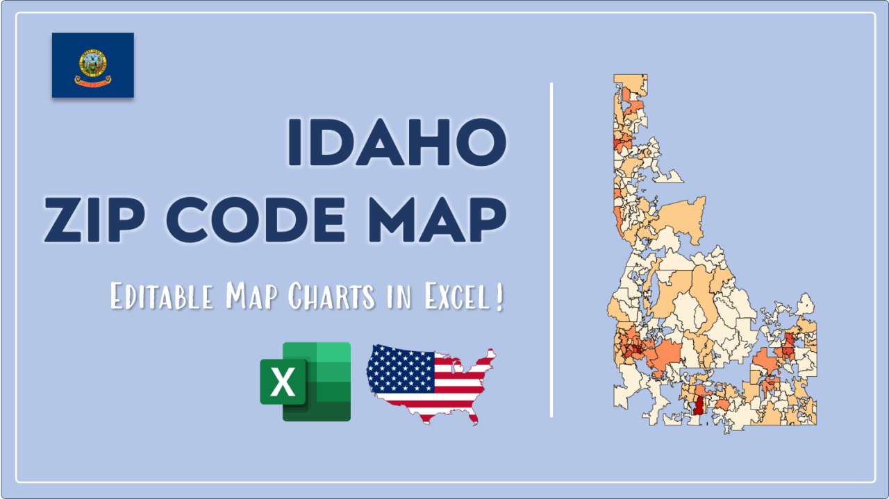 How to Paint Idaho Zip Codes Map Video Cover Image