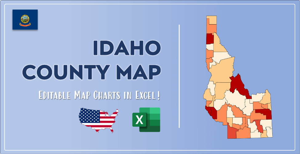 Idaho County Map Post Cover