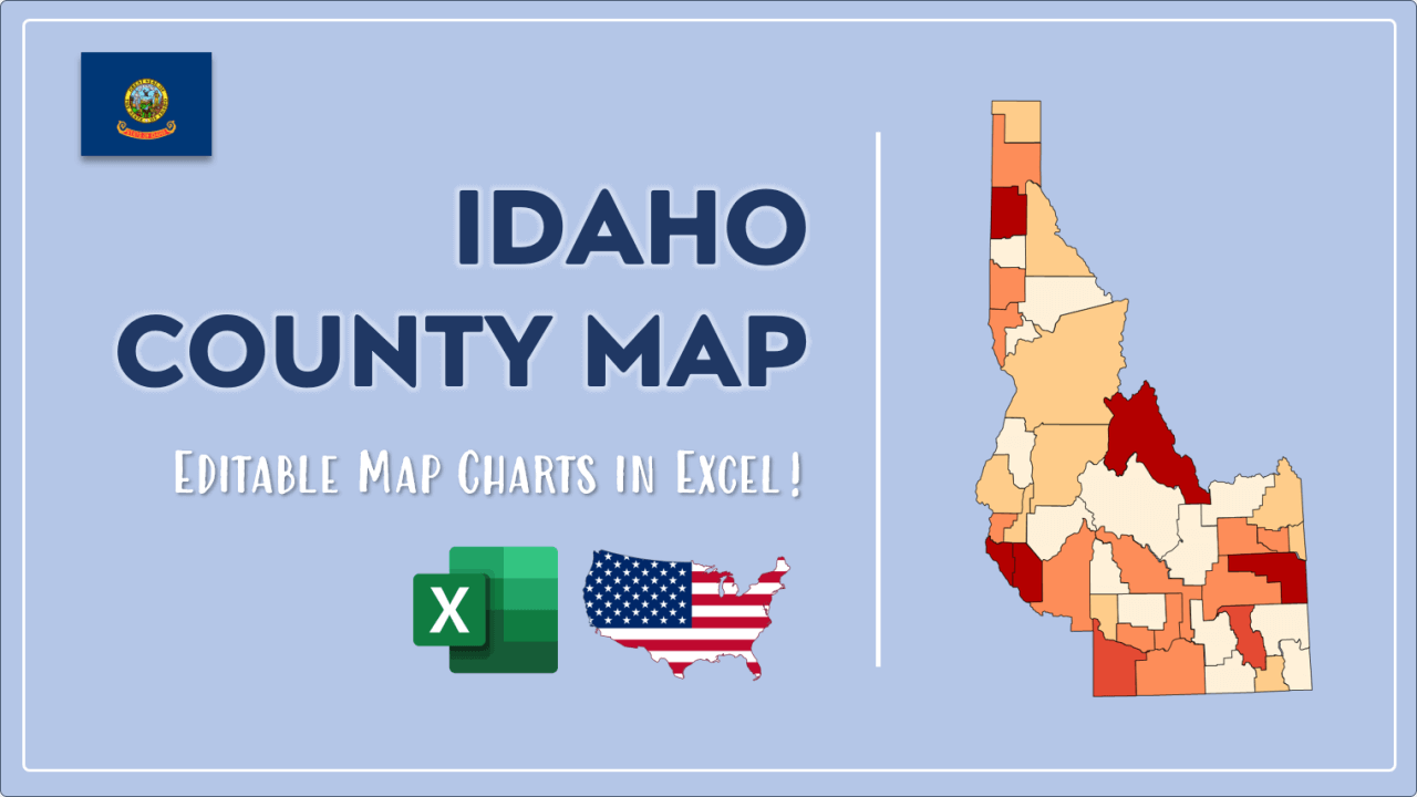 How to Paint Idaho Counties Map Video Cover Image