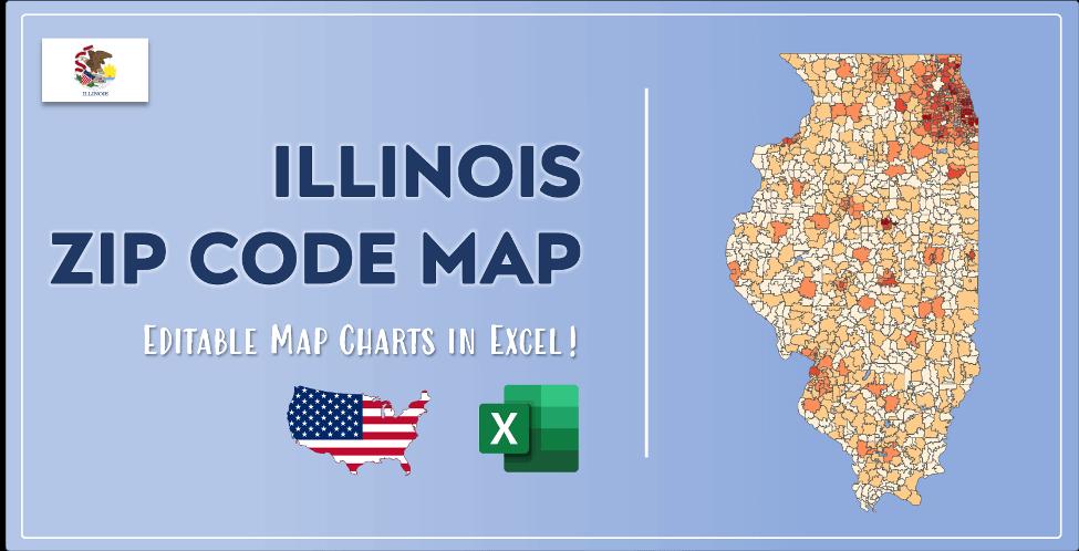 Illinois Zip Code Map Post Cover