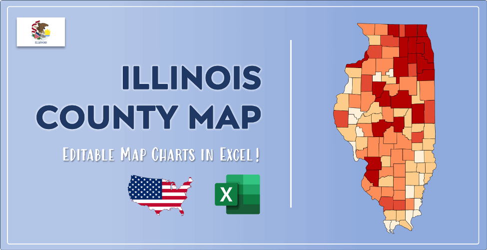 Illinois County Map Post Cover