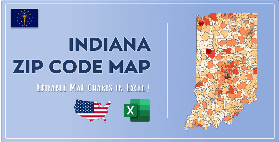 Indiana Zip Code Map Post Cover