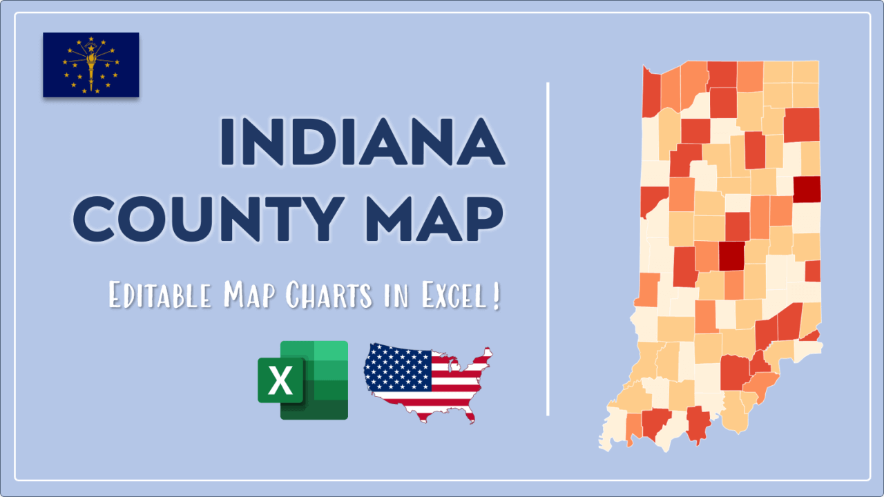 How to Paint Indiana Counties Map Video Cover Image