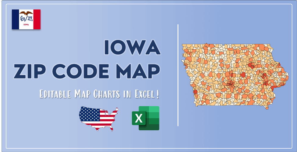Iowa Zip Code Map Post Cover