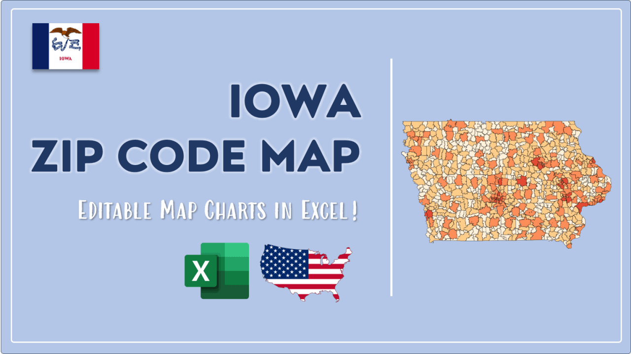 How to Paint Iowa Zip Codes Map Video Cover Image