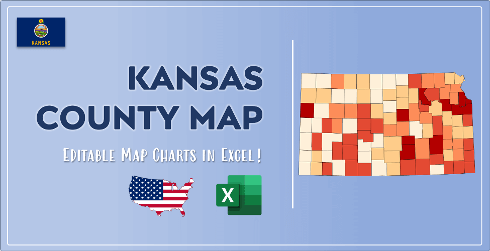 Kansas County Map Post Cover
