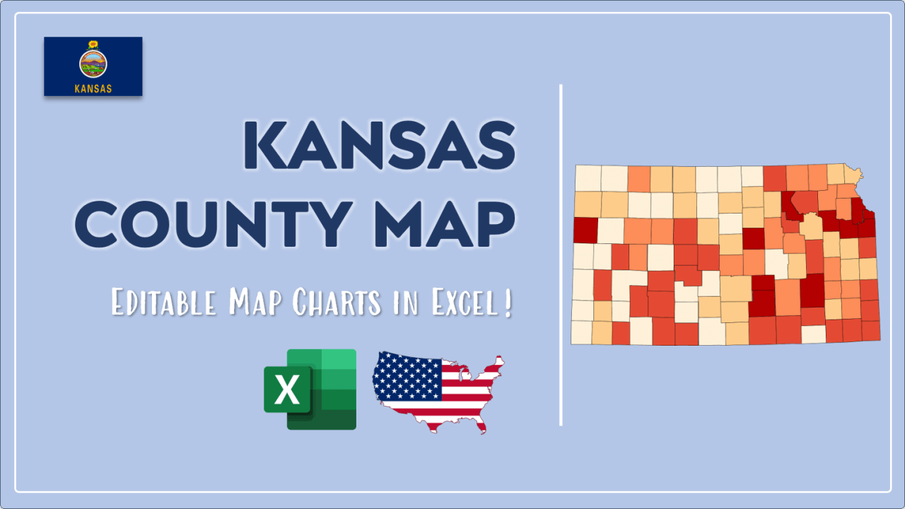 How to Paint Kansas Counties Map Video Cover Image