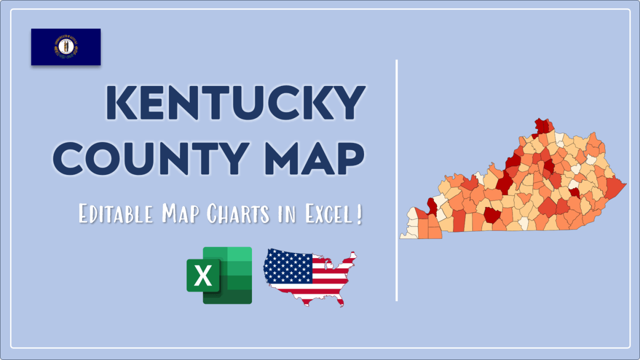 How to Paint Kentucky Counties Map Video Cover Image