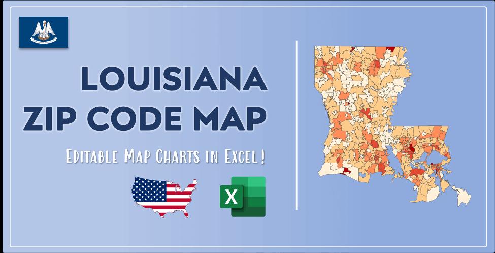 Louisiana Zip Code Map Post Cover