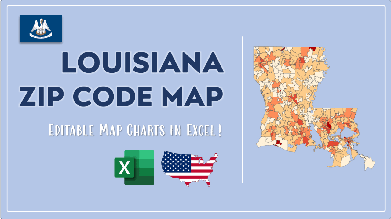 How to Paint Louisiana Zip Codes Map Video Cover Image