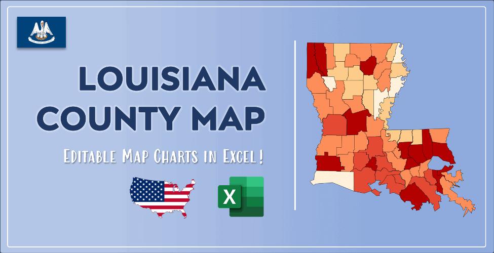 Louisiana County Map Post Cover