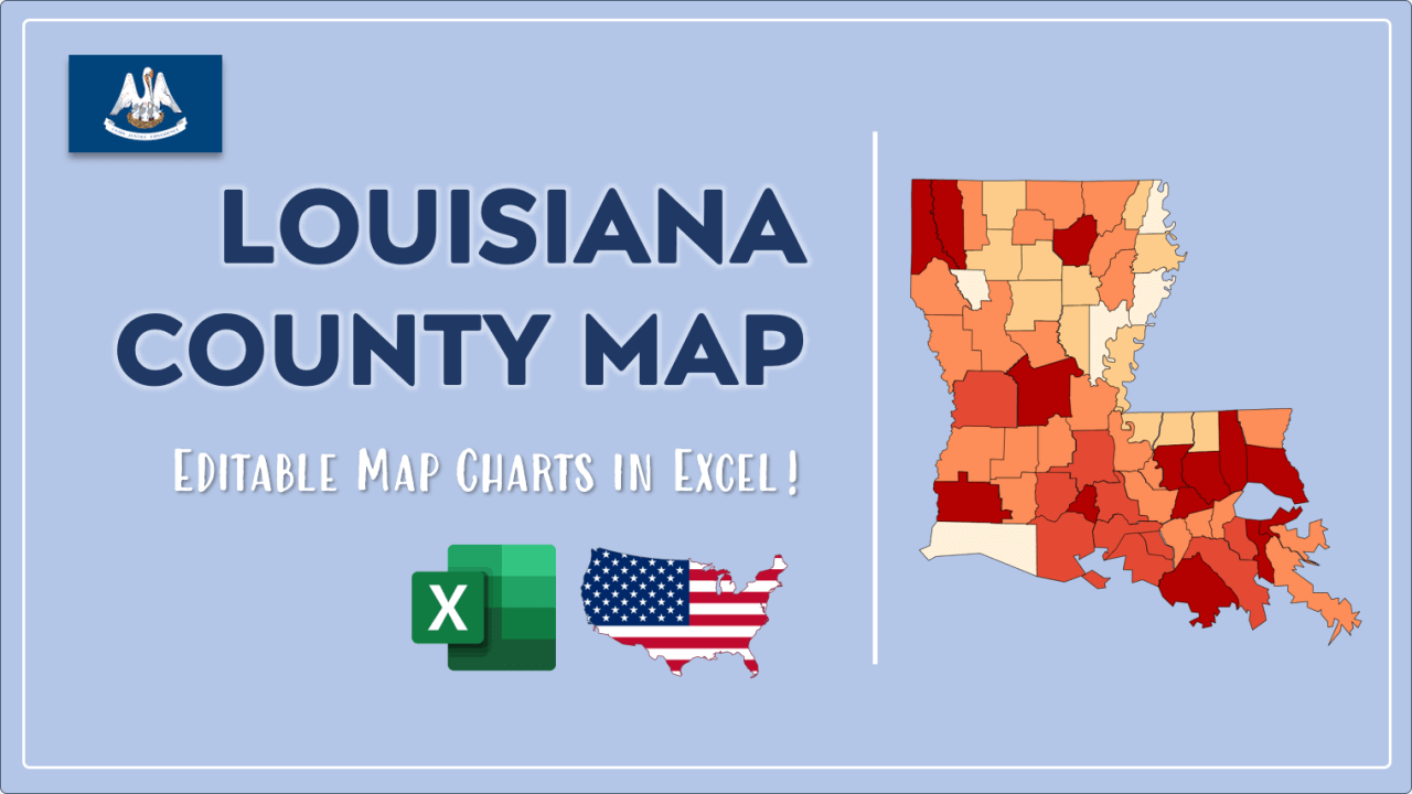 How to Paint Louisiana Counties Map Video Cover Image