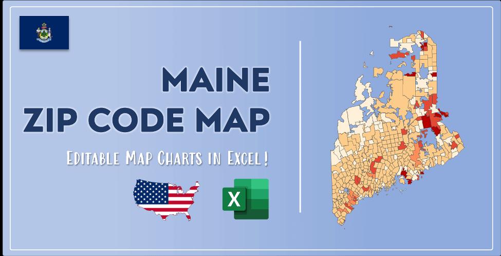 Maine Zip Code Map Post Cover