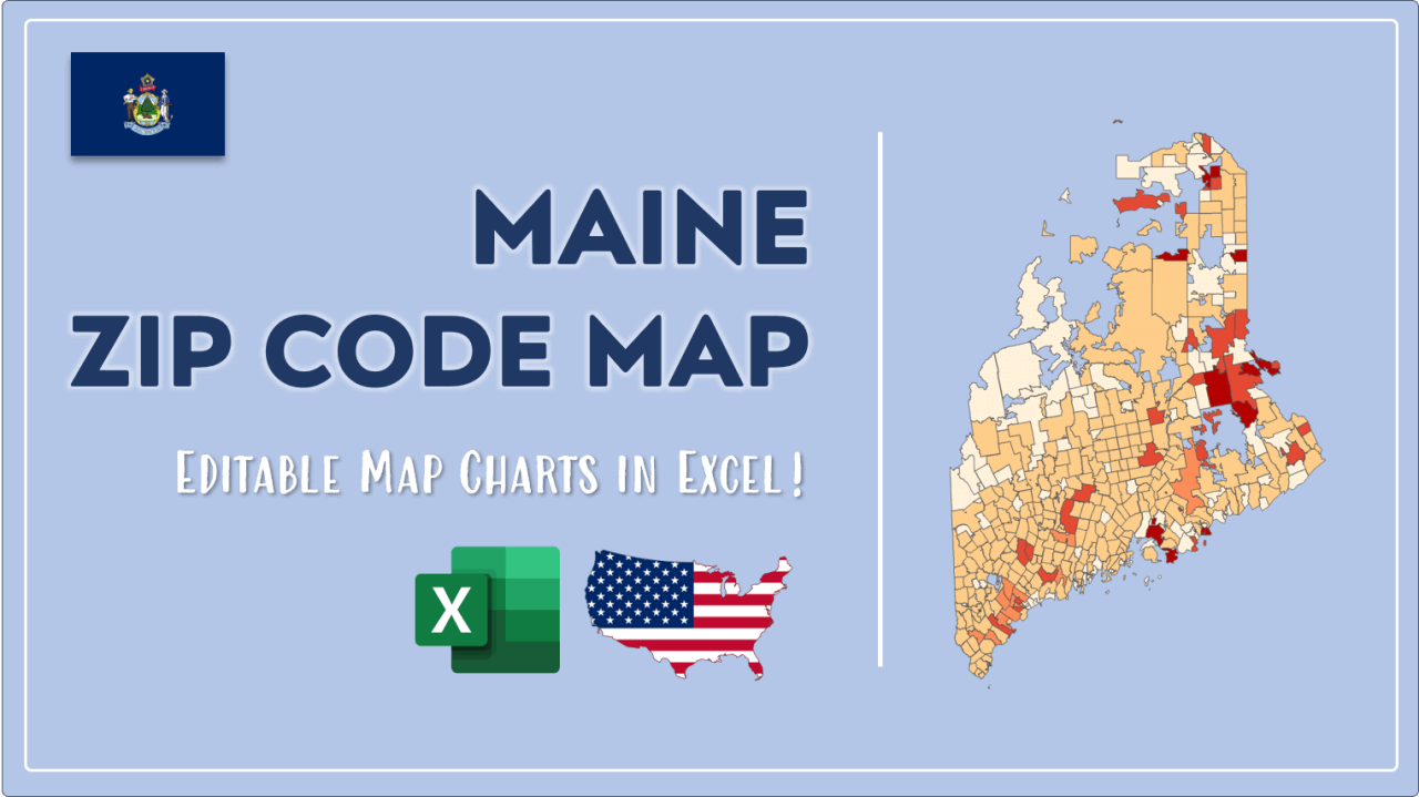 How to Paint Maine Zip Codes Map Video Cover Image