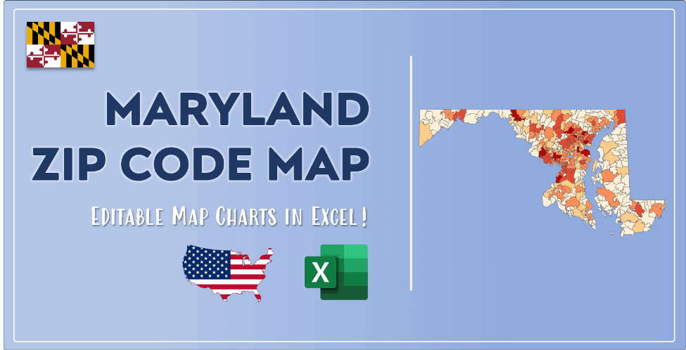 Maryland Zip Code Map Post Cover