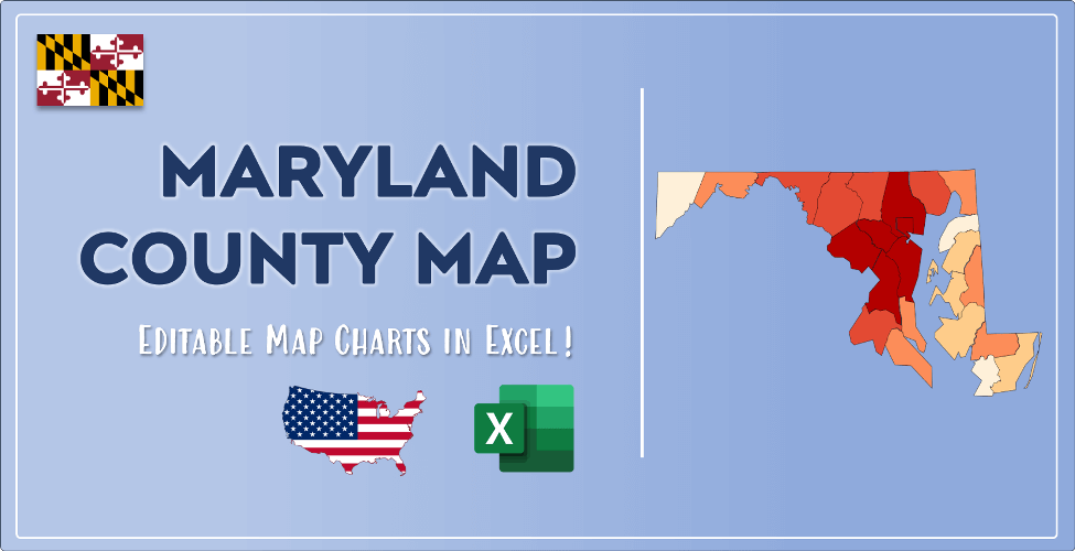 Maryland County Map Post Cover