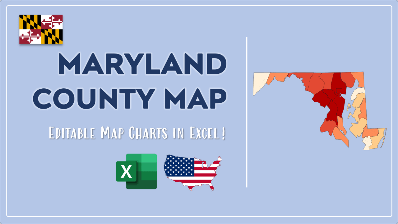 How to Paint Maryland Counties Map Video Cover Image