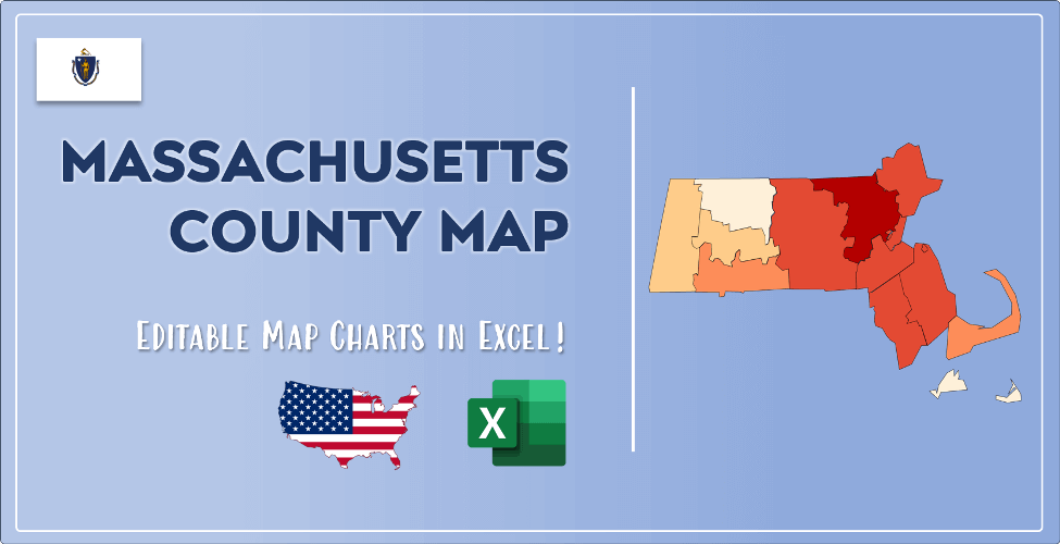 Massachusetts County Map Post Cover