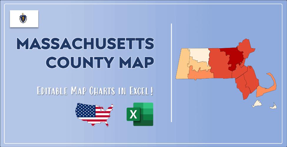 Massachusetts County Map Post Cover