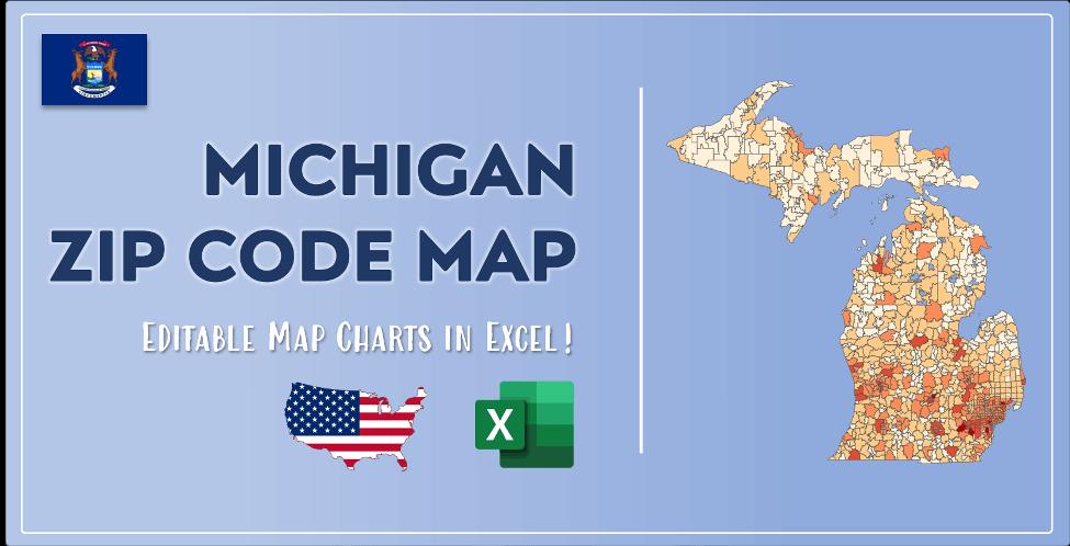 Michigan Zip Code Map Post Cover