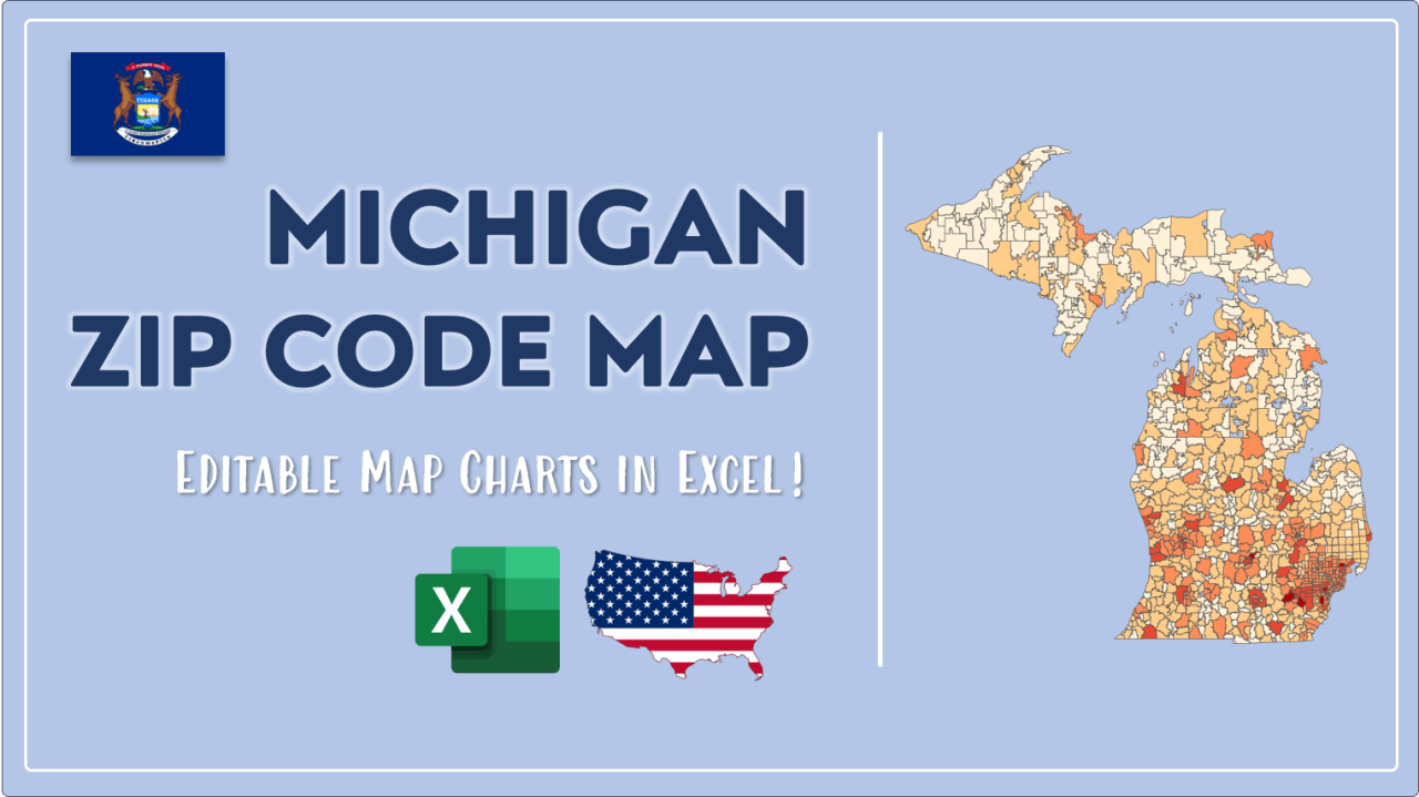 How to Paint Michigan Zip Codes Map Video Cover Image
