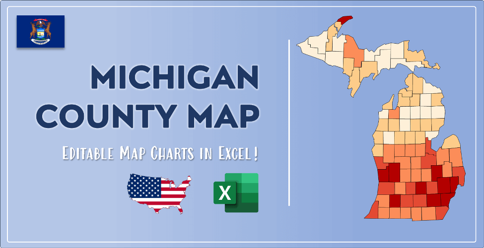 Michigan County Map Post Cover
