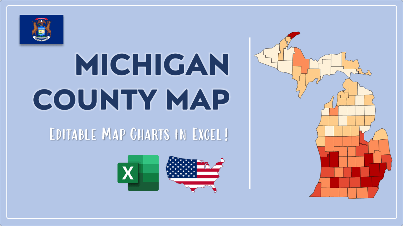 How to Paint Michigan Counties Map Video Cover Image